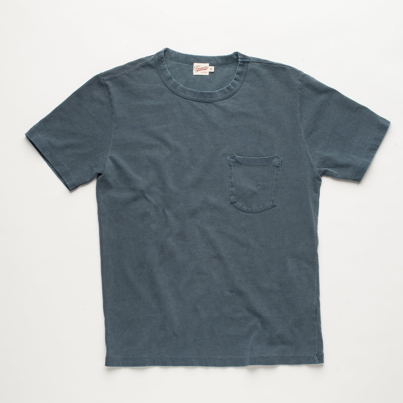 Vintage Wash Pocket Tee - Faded Blue