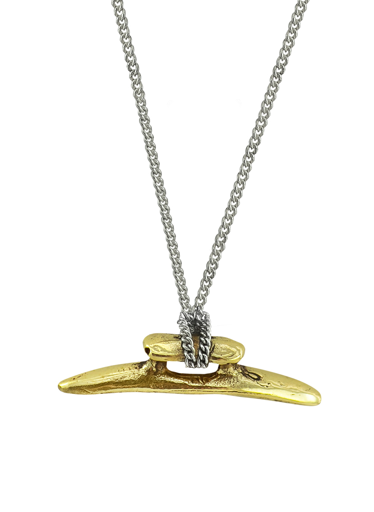 Boat Cleat Chain Necklace - Brass & Sterling Silver