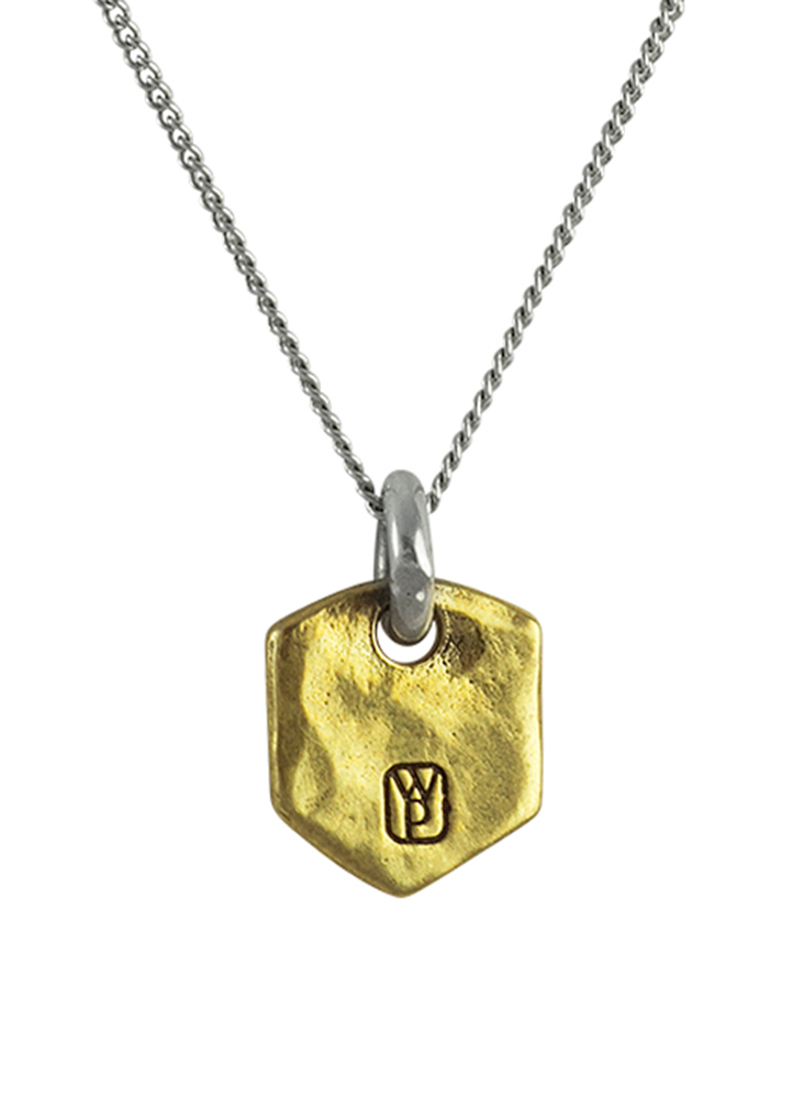 Escutcheon Necklace - Sterling Silver and Brass