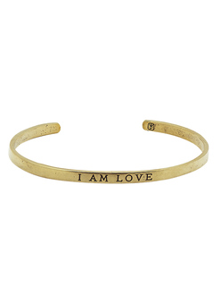 I Am Love Brass Cuff