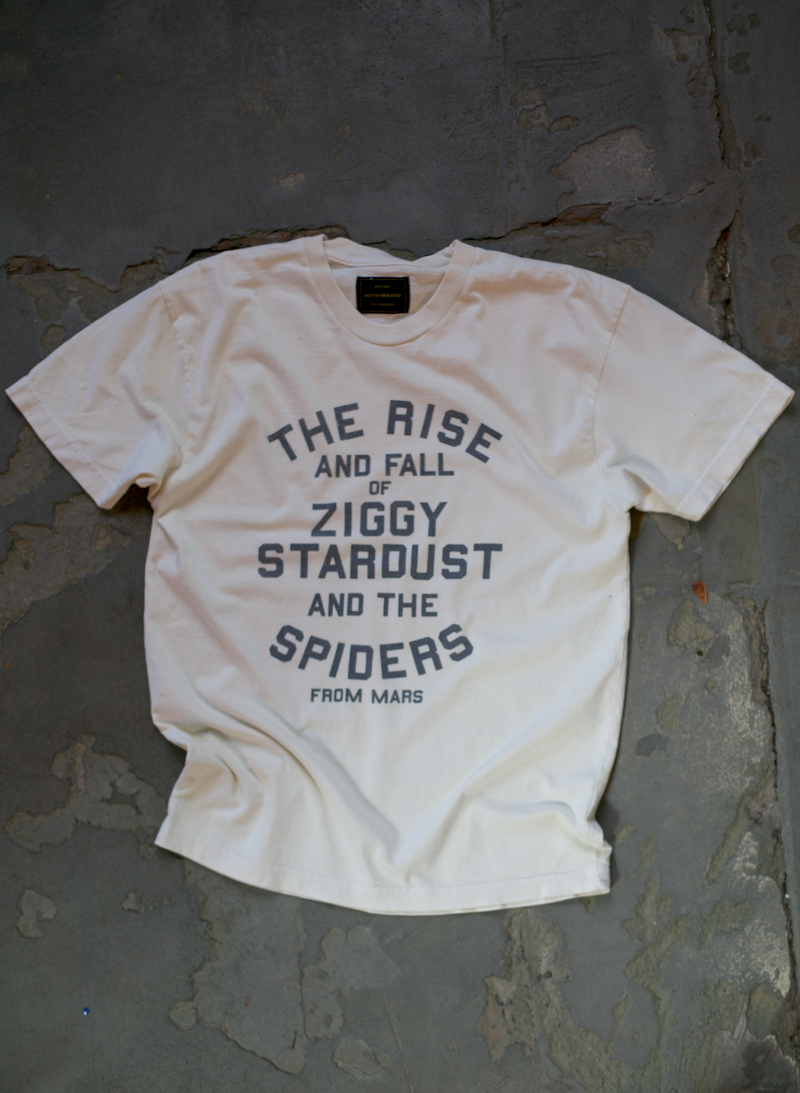 The Rise And Fall Of Ziggy Stardust Tee - Antique White