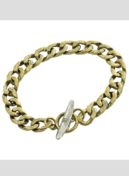 Boat Cleat Chain Bracelet - Brass and Sterling Silver- Smalll
