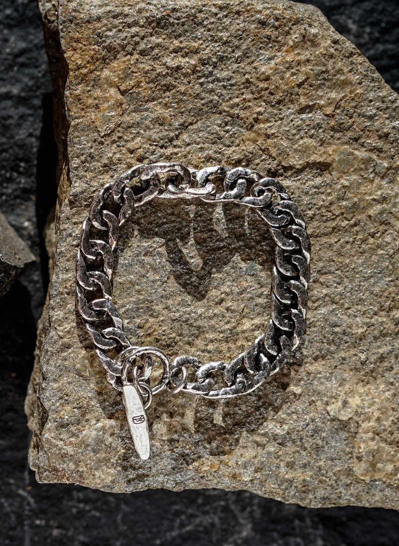Boat Cleat Chain Bracelet - Sterling Silver - Large
