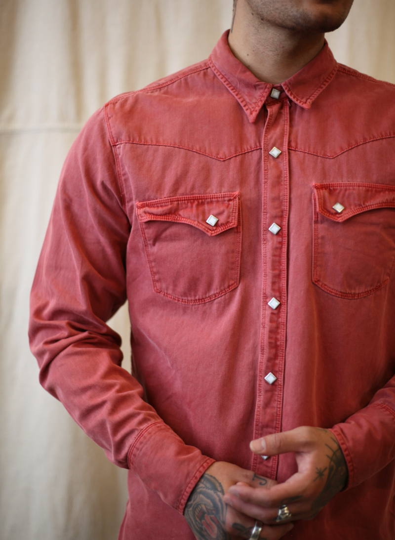 Calico Shirt-Rust