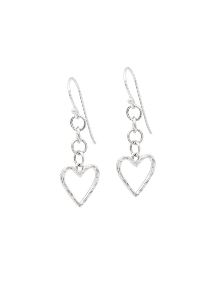 Ever Open Heart Dangle Earrings