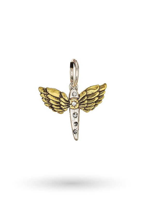 Rise Anew Pheonix Charm - Sterling Silver & Brass