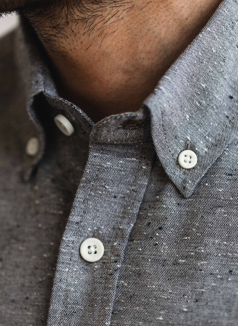 The Jack Shirt in Charcoal Fleck