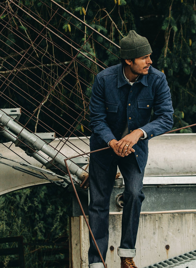 The Quilted Jacket - Indigo Boss Duck