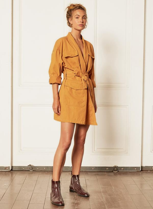 The Joaquin Kimono Jacket Dress - Golden Child