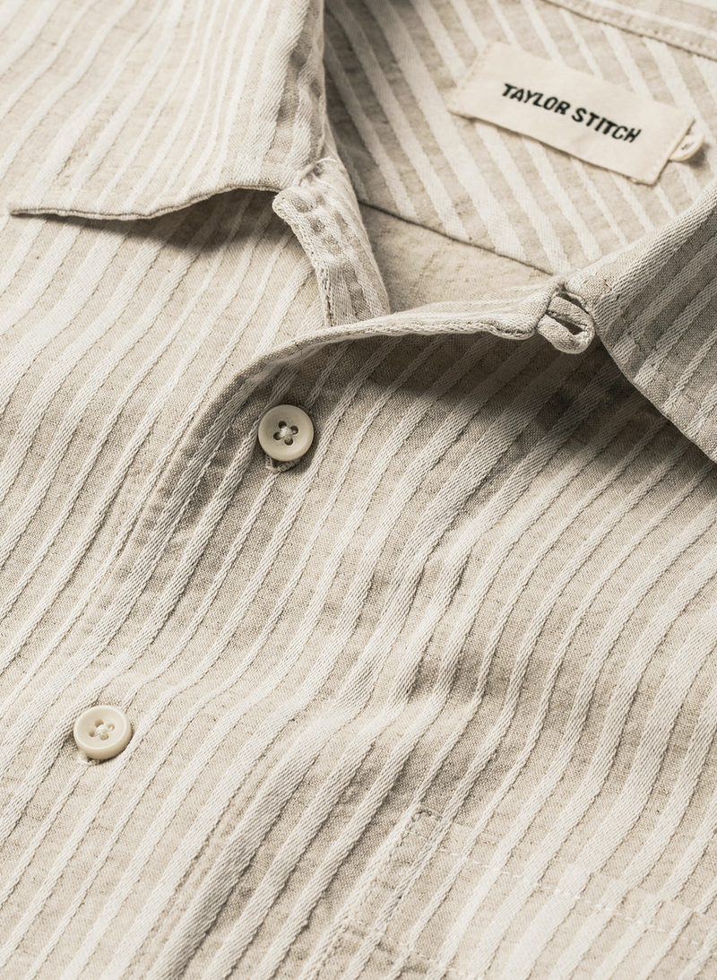 The Short Sleeve Hawthorne - Natural Stripe