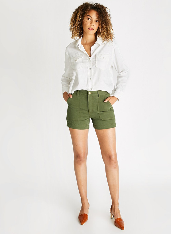 Aria Trouser Short - Forest Night