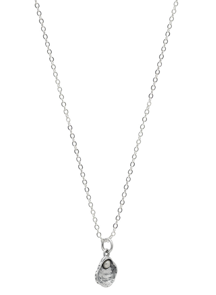 Cultivate Love Oyster Necklace - One Pearl - SS - 18""