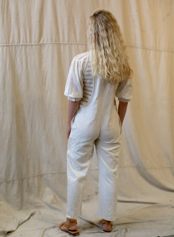 Calia Lace Jumpsuit - Frosted White