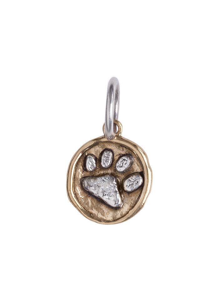 Camp Charm - Paw- Sterling Silver & Brass