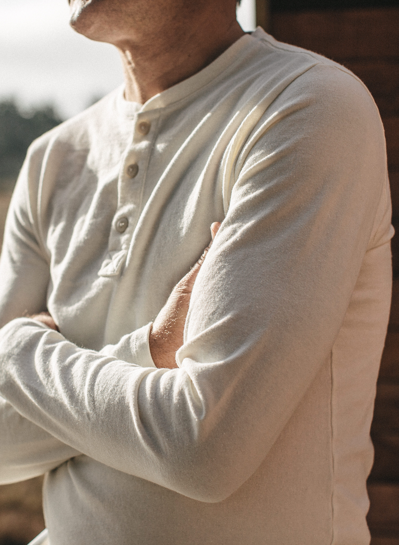 The Heavy Bag Henley - Natural