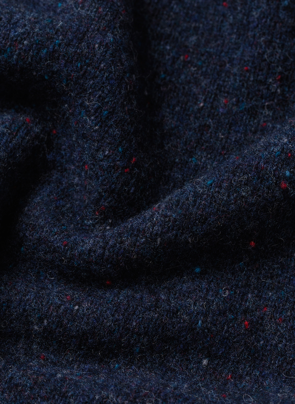 The Hardtack Sweater - Navy Donegal