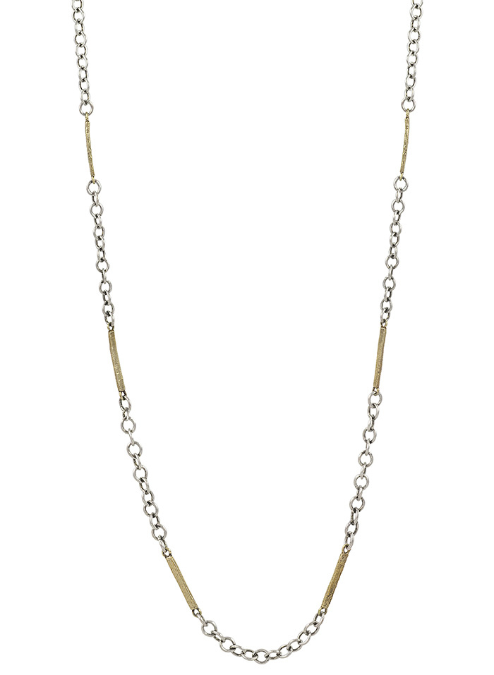 Tripper Chain - Sterling Silver and Brass - 24""