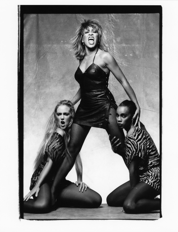 Tina Turner with Models with  by Norman Seeff Print