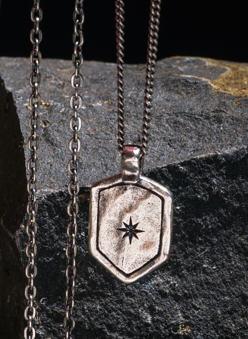 Star Shield Necklace - Sterling Silver