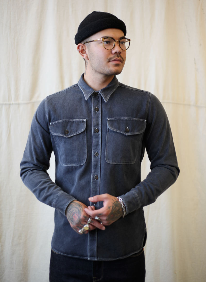 Utility Button Down- Charcoal