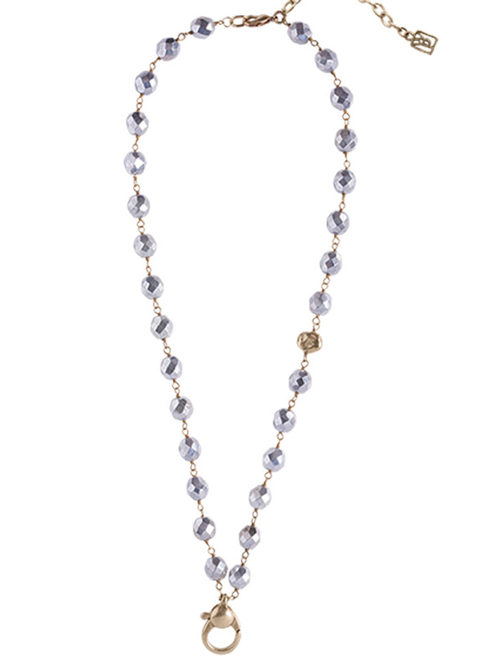Ensemble Necklace - Brass & Bright Silver Beads