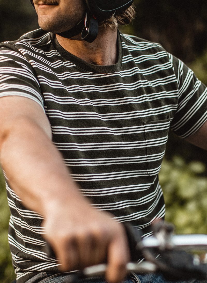 The Heavy Bag Tee - Cypress Stripe