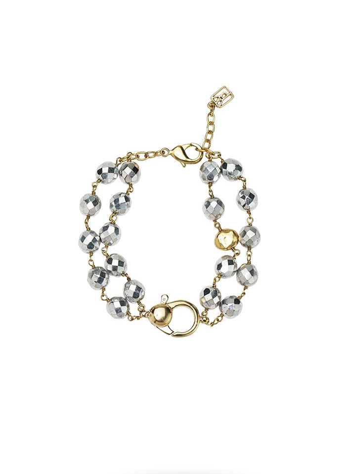 Ensemble Bracelet - Bright Silver - Brass &  Fire Polished G