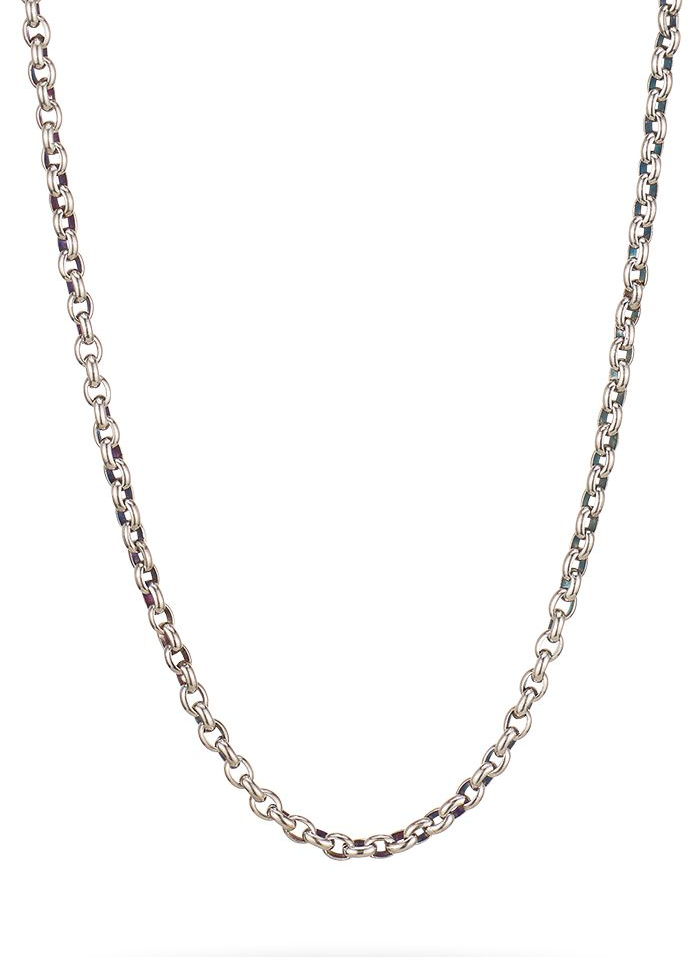 "Medium Rolo Chain- 24"" Sterling Silver"