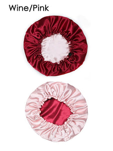 Fancy Girl Draw String Satin Bonnet