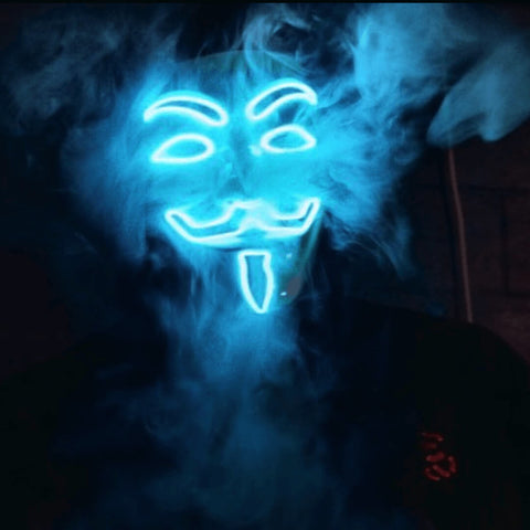 Image of Anonymous Hacker Light Up LED Mask - Blue