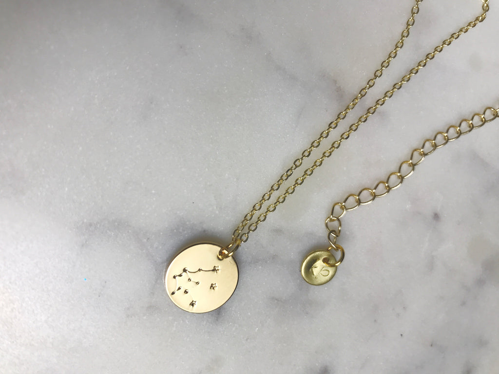 Aquarius necklace, Aquarius gold necklace, Aquarius gold choker, Aquarius coin necklace, Aquarius charm necklace, Aquarius coin choker, Aquarius charm gold, Aquarius gold charm necklace