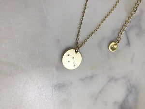 Aries Necklace (Gold-Zodiac Necklace)