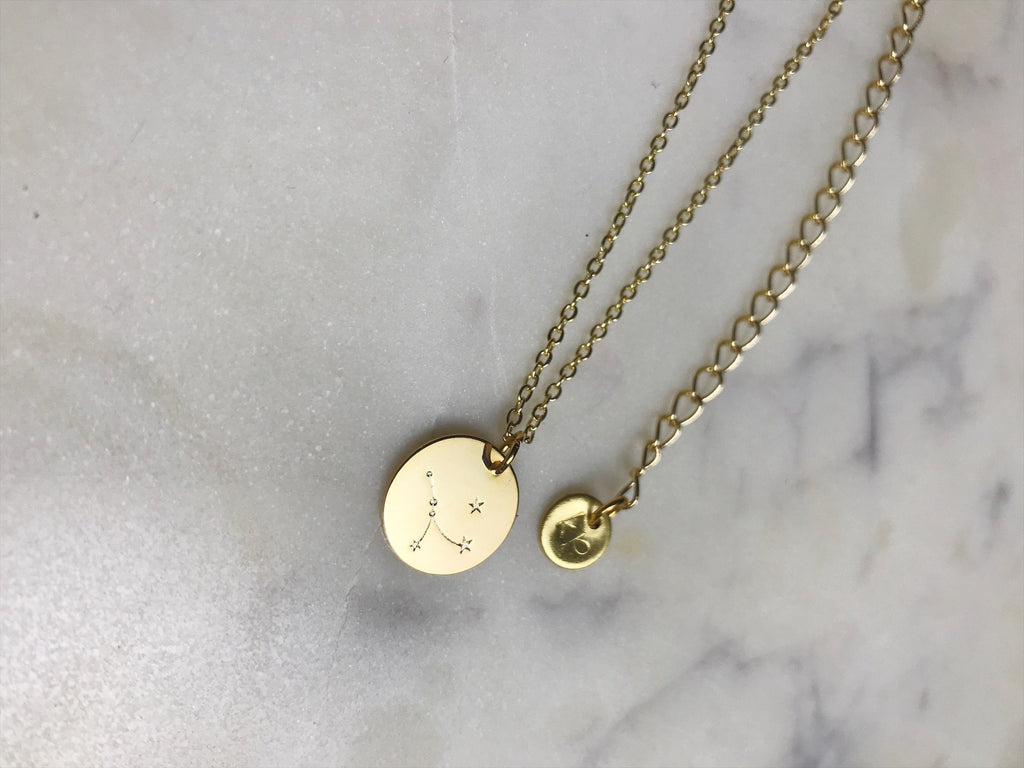 cancer necklace, zodiac choker, zodiac necklace, gold cancernecklace, gold choker, gold necklace Cancer