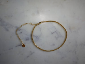 gold choker, gold chain, thin choker, gold choker chain, gold choker necklace