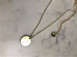 Leo Necklace (Gold-Zodiac Necklace)