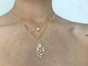 Girl, femme, women, mujer, chain, gold necklace, gold charm necklace, feminist jewelry