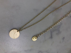 Taurus necklace, zodiac choker, zodiac necklace, gold taurus necklace, gold choker, gold necklace taurus