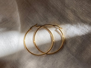 Baby Girl - Large Hoop Earrings