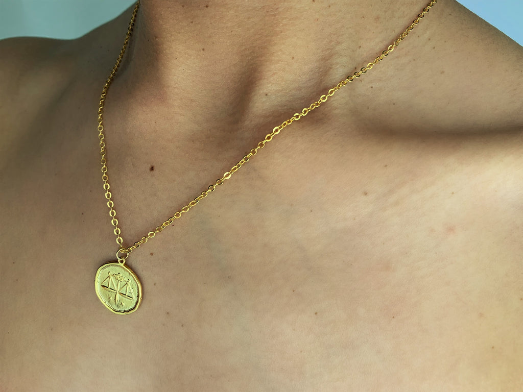 Libra choker, libra necklace, libra zodiac necklace, libra choker gold,gold libra necklace, gold libra choker necklace, gold libra, gold necklace choker
