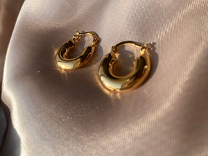 Thick hoop earrings, chunky hoop earrings, chunky small hoops, chuky small hoops gold, gold earrings