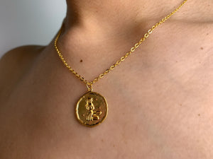Virgo necklace,virgo zodiac necklace, gold virgo necklace, gold necklcace, zodiac necklace gold, virgo choker,gold choker