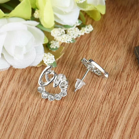 1 Pair Elegant Crystal Rhinestone Earrings - Kawaii Treats