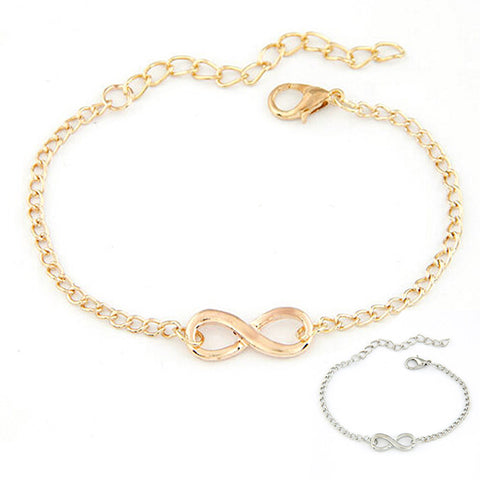 Silver and Gold Infinity Bracelet - Kawaii Treats