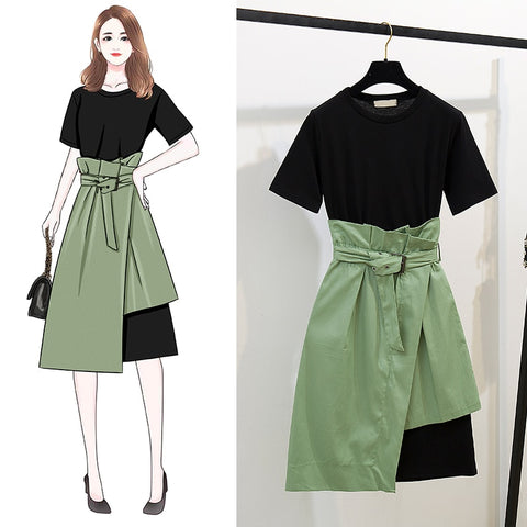Lady 2 Piece Dress Set <2 Colors>