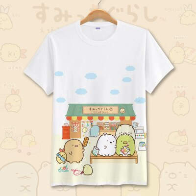 Cool Cartoon White Summer T Shirt <7 Designs> - Kawaii Treats