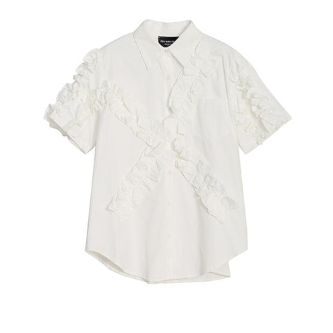 Summer White Lady Casual Shirt