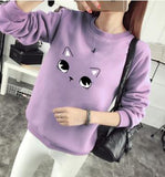 Cat Inspired Thick Pullover <17 colors>