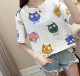 Animal Print Short Sleeve T-shirt <2 Colors> - Kawaii Treats