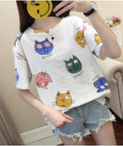 Animal Print Short Sleeve T-shirt <2 Colors>
