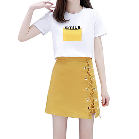 Two piece Fashion Casual Skirt Set - Kawaii Treats